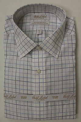 Gold Label Roundtree/&Yorke Fitted Classic Plum Dress Shirt 14.5 15 15.5 16 17.5