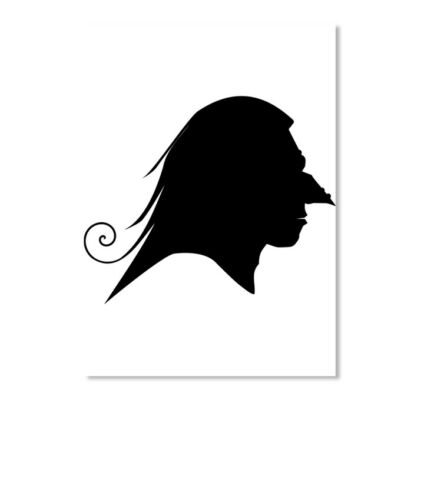 Details about  /Old Witch Silhouette Profile Sticker Portrait