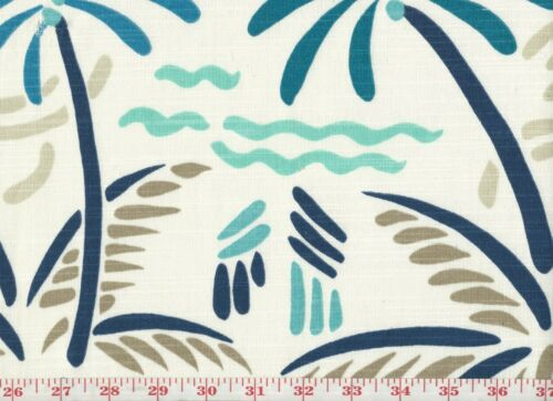 Coastal Palm Trees Cotton Drapery Upholstery Fabric Golding Excursion CL Dazzle