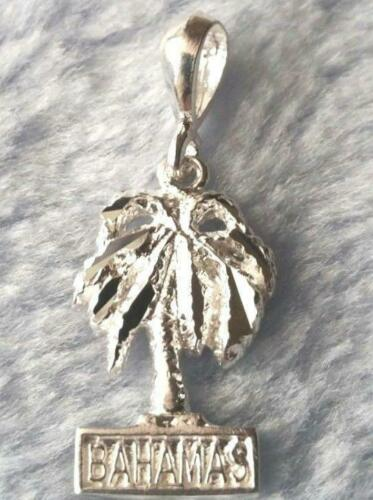 New Bahamas Exotic Palm Tree .925 Anti Tarnish Solid Sterling Silver Pendant