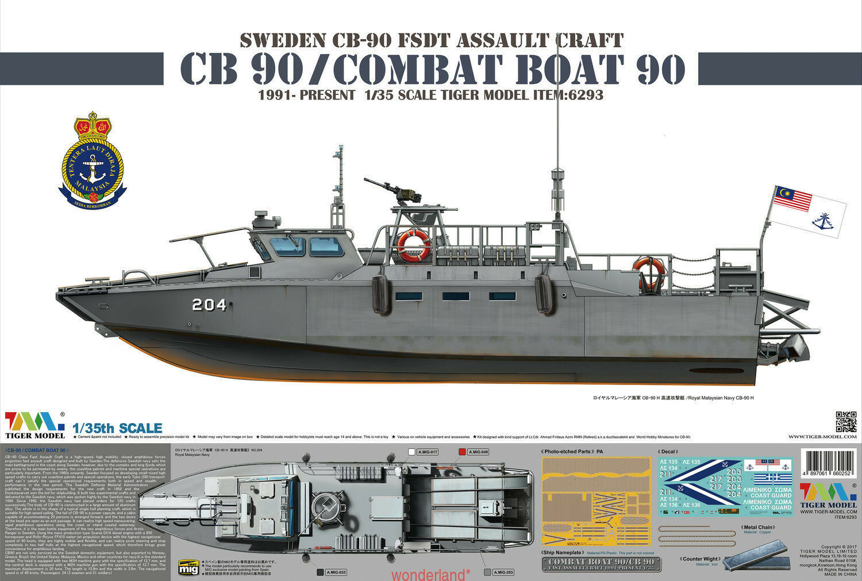 Tiger Model  35 Sweden CB-90 FDST Assault Craft CB 90 Combat Boat 90