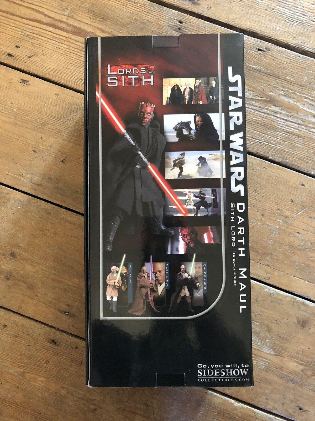 Offre festive de la nuit du carnaval de de de Noël à Noël Sideshow Star Wars Darth Maul Sith Lord AF SSC 1095 d8e3c4