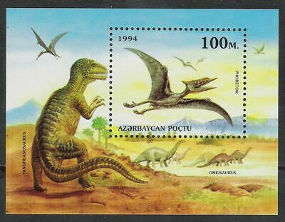 Ehrlichkeit Aserbaidschan Block 7 Dinosaurier Prähistorische Tiere **