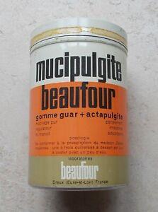 Ancienne-boite-Metal-Tole-Mucipulgite-Beaufour-mucilage-Pharmacie-Vintage