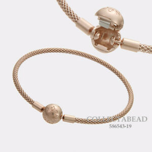 4c622ecdc Image is loading Authentic-Pandora-Silver-PANDORA-Rose-Mesh-Bracelet-Size-