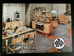 Chrome-Postcard-Vintage-Heywood-Wakefield-Furniture-Advertising-Furniture-Store