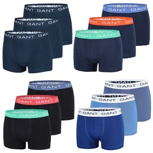 3er Pack GANT Herren Boxershorts, Short Boxer, Trunks, Unterhosen, Neu, Navy
