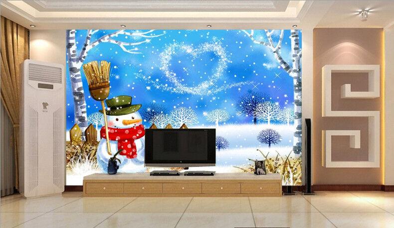 3D 3D 3D Blauer Schneemann 89 Tapete Wandgemälde Tapete Tapeten Bild Familie DE   Smart    Exquisite (in) Verarbeitung    Eleganter Stil  13b897