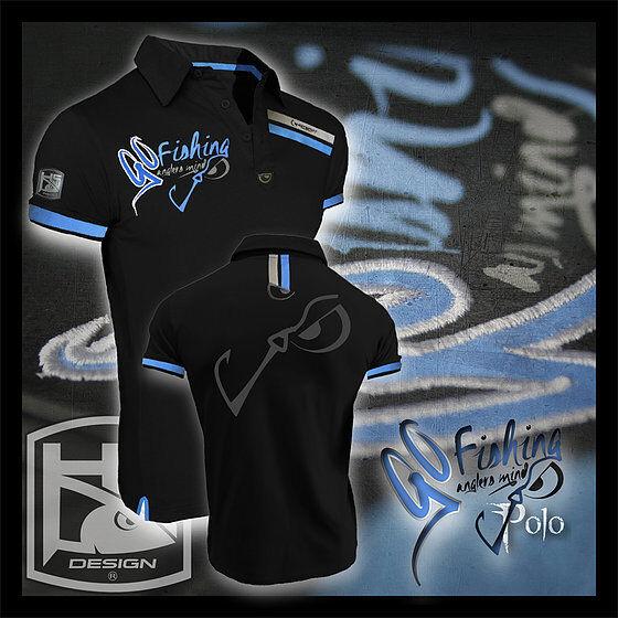 Hotspot Design Poloshirt GO FISHING Anglershirt, Angelshirt