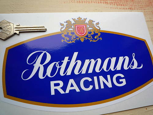 ROTHMANS RACING SPONSORS LOGO Classic Bike /& Car 200mm