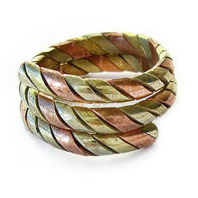 Adjustable 3 Color Copper Braided Weaving 3-layer Ring