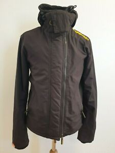 D115-Herren-Superdry-The-Badeanzug-schwarz-gelb-Kapuzenjacke-UK-Small-S-EU-46