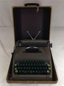 Vintage Smith Corona Silent 5S Series Typewriter & Case Serial Number 5S378542