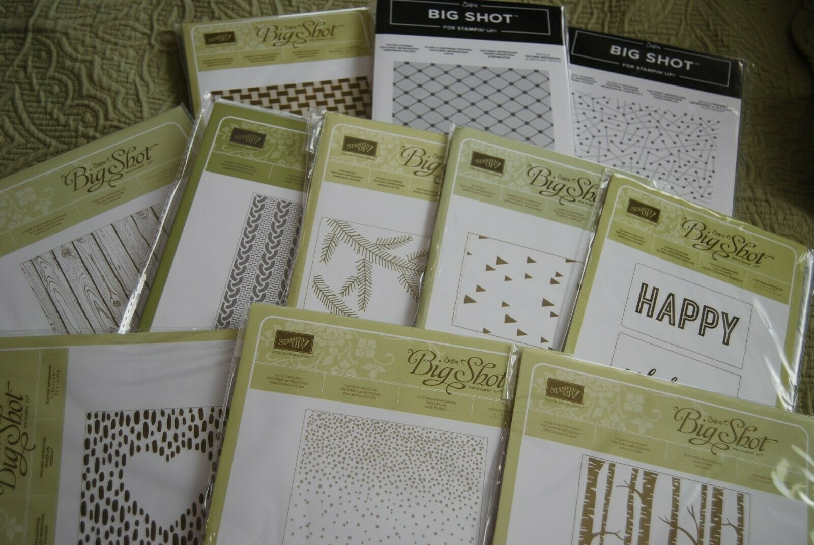 Stampin Up Textured Impressions Dynamic 3D Emboss Embossing Folder GUC CHOOSE