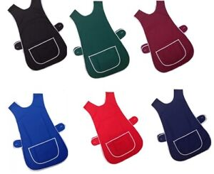 QUALITY TABBARD BAR  APRON TABARD CHEF KITCHEN CATERING CLEANING WITH POCKET