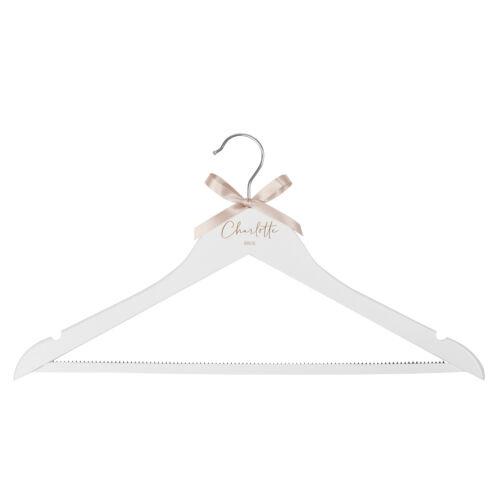 Personalised engraved dress hanger bride bridesmaid hanger Jajo UK laser
