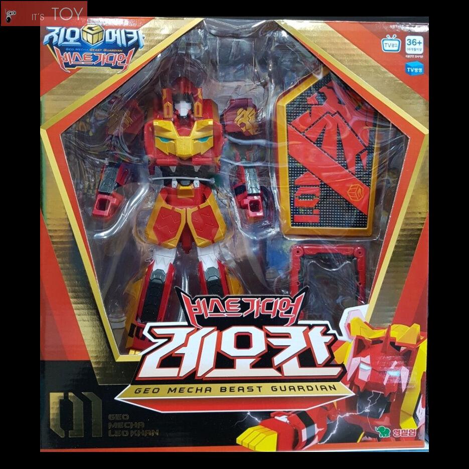 Geo - mecha - Besteie guardian 01 leo khan rot lion transformatoren roboter jungen spielzeug 2016