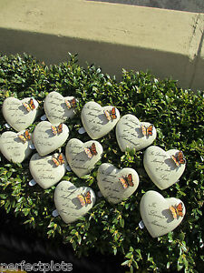 Graveside-Memorial-Remembrance-Grave-Gift-Tiny-heart-pebble-with-Butterfly