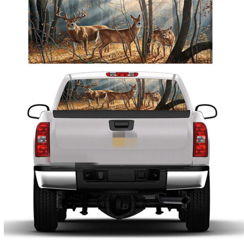 """58x18/"""" Inch Deer Buck Window Graphic Tint Decal Sticker for Truck SUV Pickup 1x"""
