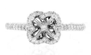 Natural-VS1-Diamond-Ring-Setting-0-38ct-18k-White-Gold-Engagement