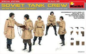 Miniart-1-35-Tanque-Sovietico-Crew-en-Invierno-Uniformes-Edicion-Especial