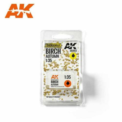 AK Interactive Birch Autumn 1//35 Scenic Basing Dry Leaves New