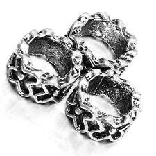 50x Tibetan Silver Tone Alloy European Loose Beads Fit Charms Bracelet Crafts D