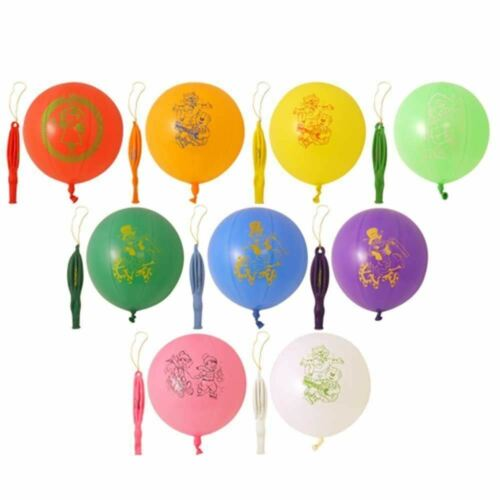 25 Large Punch Balloons with Elastic Multi Coloured Loot Bag Party Fillers Toys