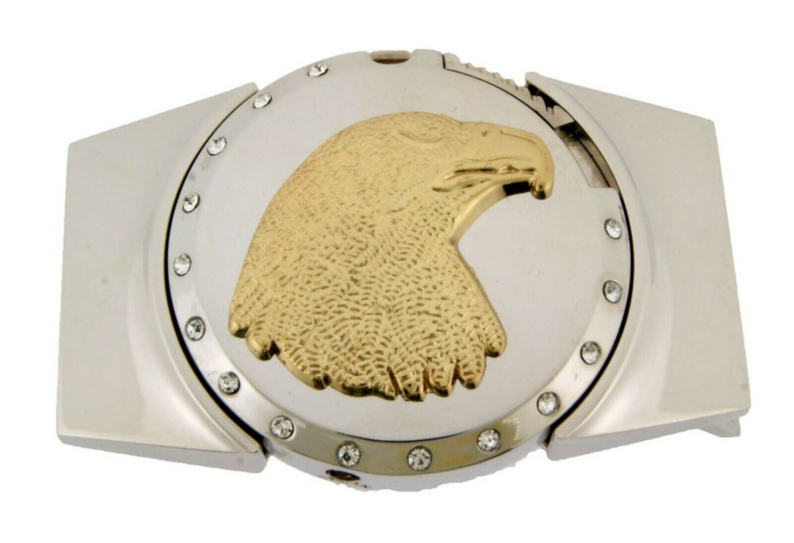 Removable Lighters Belt Buckle Eagle Head Gold Silver American Patriotic Bird