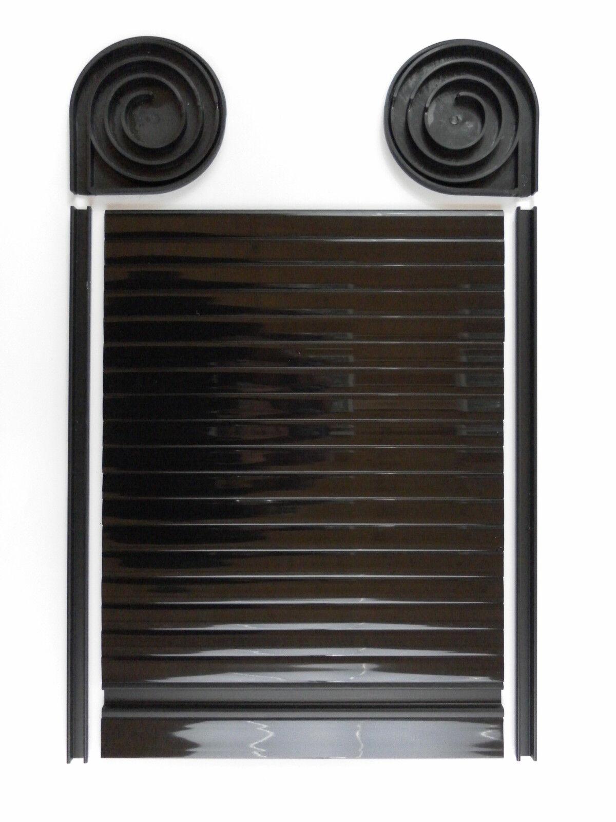 Bus Tambour Tür Wohnwagen Rolle Tür VW T4 T5 500mm X 350mm Glanz Schwarz