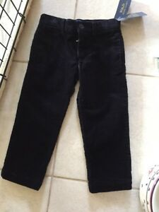 Baby & Toddler Clothing Polo Ralph Lauren Navy Blue Corduroy Pants Boys Size 3t Adjustable Waist