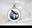 Eagle moon Pendentif Chaîne Collier Sautoir Verre Tibet bijoux argent