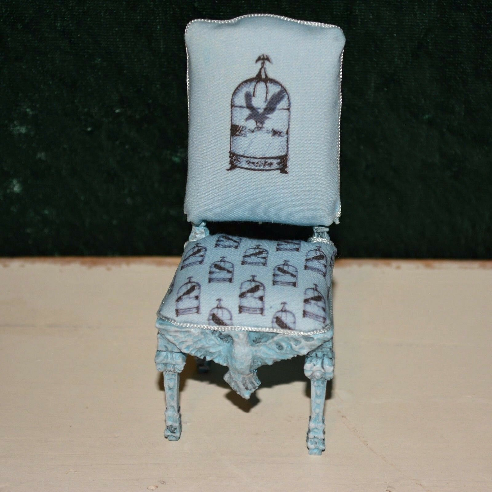 Dollhouse miniature chair 1 12 raven