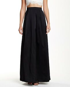 fb6a80926c Image is loading Kay-Unger-Pleated-Satin-Maxi-Skirt-Size-8