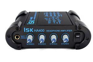 iSK-HA-400-4-Channel-Headphone-Amplifier