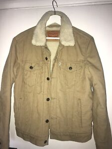 Levis S Sherpa Size Unisex Camel Jacket w6q7wp