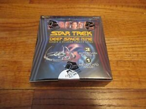 Star-Trek-Deep-Space-Nine-Heroes-amp-Villains-Factory-Sealed-BOX-and-DS9-Promo-P1