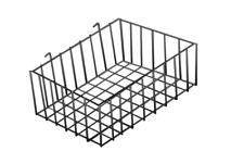5 Wire Grid Baskets Basket Black Powder Coat 12 X 8 X 4 Retail Display Stock