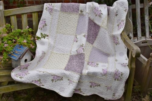 Miljögarden 130 x 180 CM quilt-patchwork couverture lilas