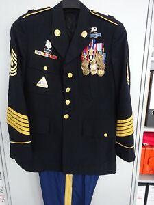 77-Jacke-Hose-Blue-Dress-Top-mit-Orden-First-Sergeant-mit-grosser-Ordensspange