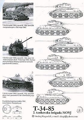IPMS Slovenia Express Mask 1/72 and 1/35 T-34/85 Yugoslavia for Tamiya or Revell