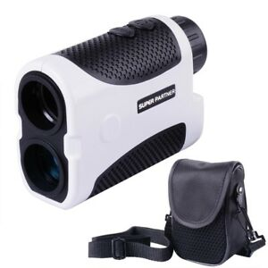 Golf Laser Range Finder w/Slope Compensation Angle Scan Pinseeking Club w/Case