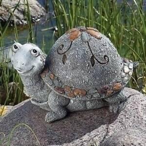 Turtle Pebble Yard Decor 6 inch Resin Garden Statue Lawn ...
