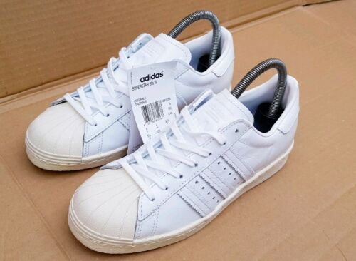 In Bnib Size White Adidas 80's Patent Effect 4 Superstar Trainers Croc New Uk OxxF1H8q6w