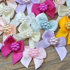 Mini Satin Ribbon Flowers Bows Gift Craft Wedding Decoration ornament A262