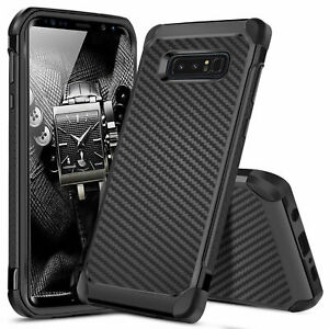 For-Samsung-Galaxy-Note-8-Shockproof-Hybrid-Carbon-Fiber-Armor-Phone-Case-Cover
