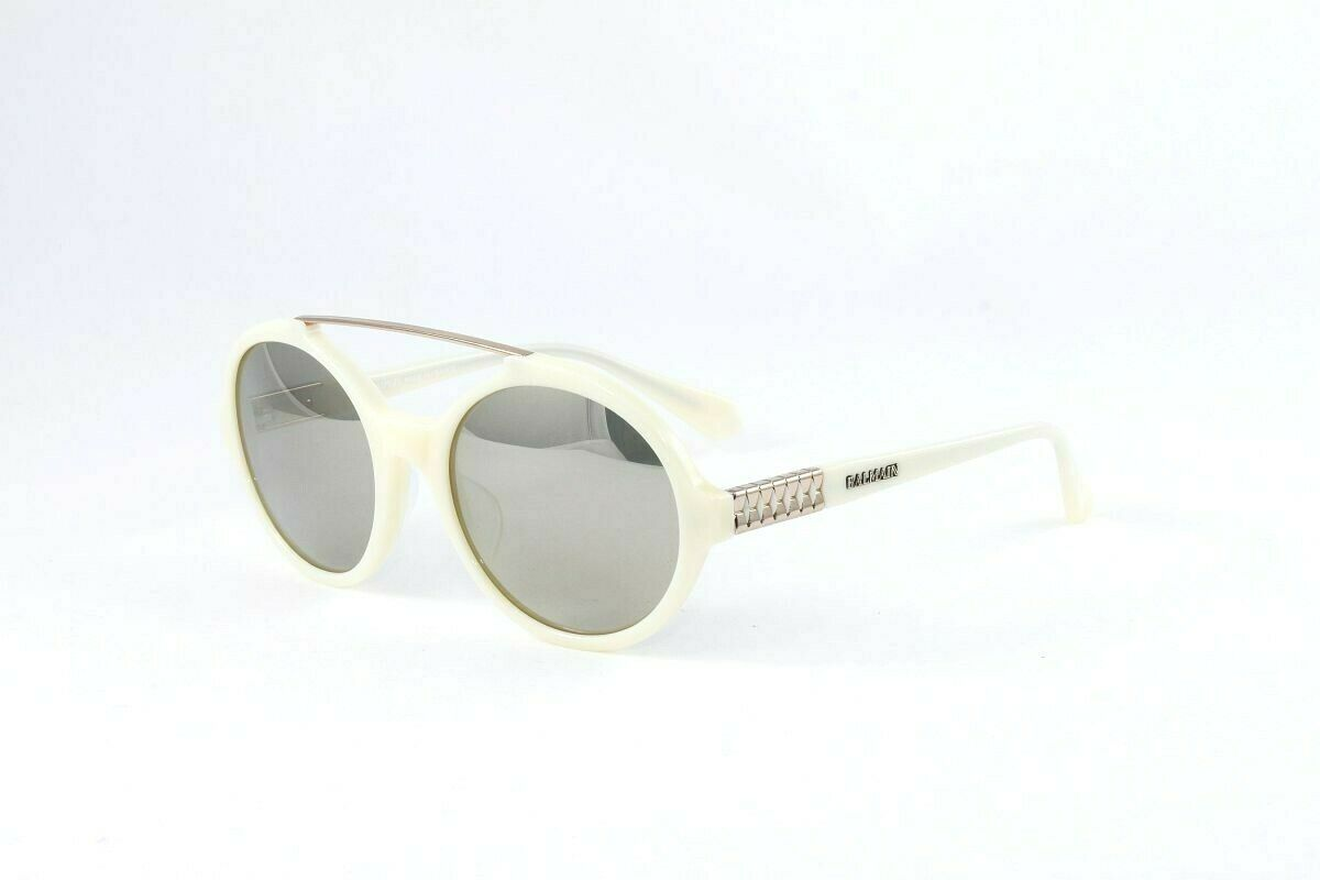 New! Balmain Women's Round/Bar Sunglasses BL2048A C03 Ivory Size 54mm