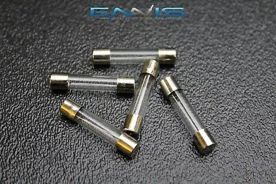 5 PACK 6 AMP AGC FUSE FUSES NICKEL PLATED GLASS FAST BLOW 1 1//4-1//4 INLINE AGC6