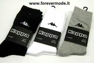 3 Pares di Calcetines calcetines de hombre Kappa corte de algodón