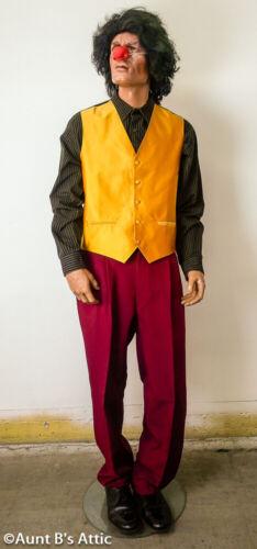 Joker Suit 4 Pc Real Clothing Burg Pant//Coat Gld Vest Gr Print Shirt XLg Bonus